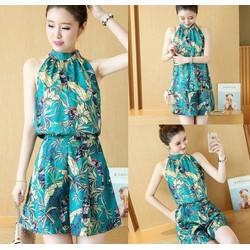Set áo yếm và quần giả váy gấm cao cấp - hàng nhập Quảng Châu
