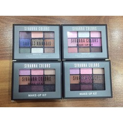 KIT VẼ MẮT VÀ SON MÔI SIVANNA COLORS MAKE UP KIT 2 IN 1