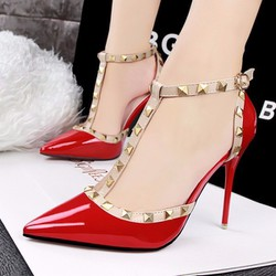 Giày cao gót nữ LouBouTin đinh tán cao cấp - LN1232