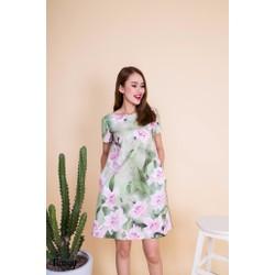 Đầm suông form rộng họa tiết hoa thanh lịch DS014