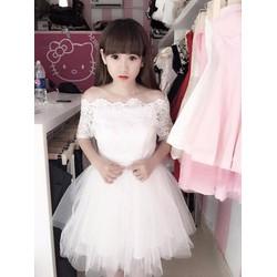 Đầm trể vai công chúa - A18424