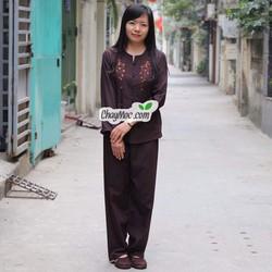 Quần áo phật tử, quần áo đi chùa: Chìa khóa thêu cổ - Q111