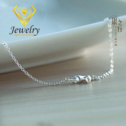Vòng đeo tay Con Mèo Sterling Silver Korea