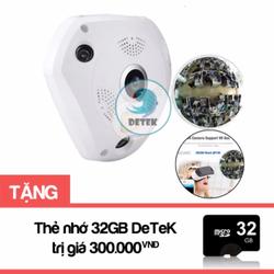 Camera IP VR360 quay mọi góc nhìn 360 độ tặng Thẻ nhớ 32GB