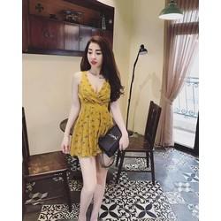 Đầm voan họa tiết