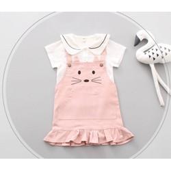 Set yếm hồng hình mèo dễ thương