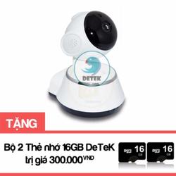 Camera không dây quay 360 độ hồng ngoại V380 Tặng 2 thẻ nhớ 16GB