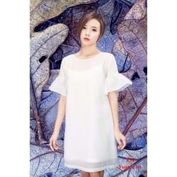 Đầm Suông Tay Loe Dễ Thương