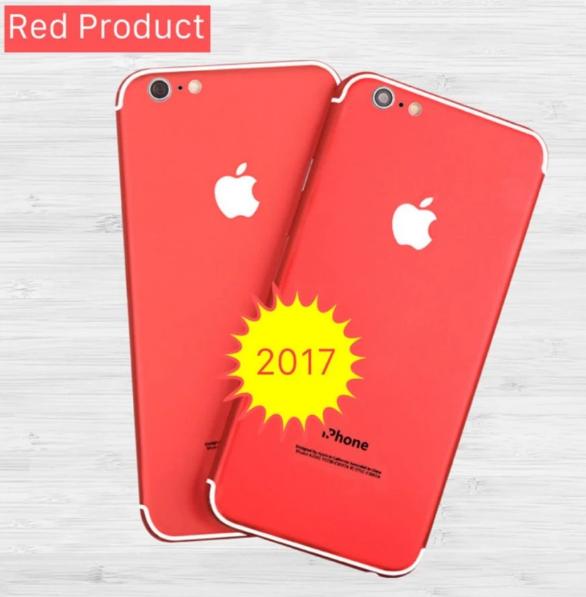 Miếng dán SKin iPhone 5 5s đỏ 1