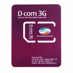 Sim 3G Dcom Viettel trọn gói 1 năm,ĐK chính chủ