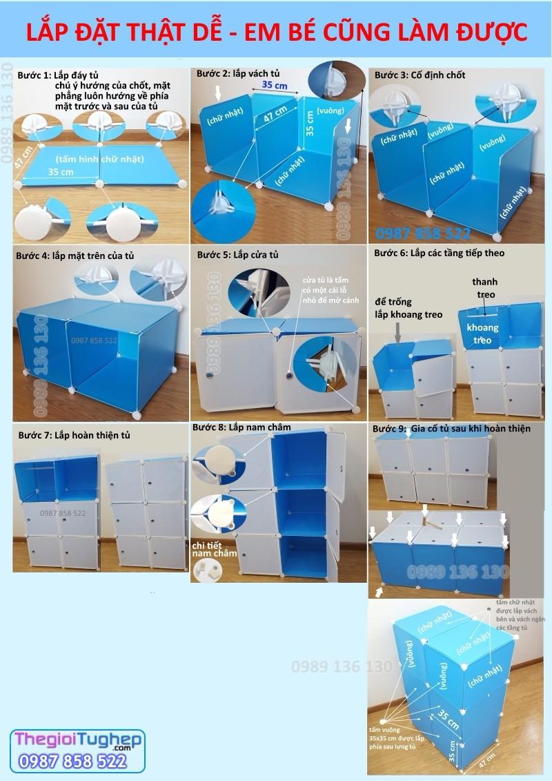 Tủ nhựa ghép đa năng 2