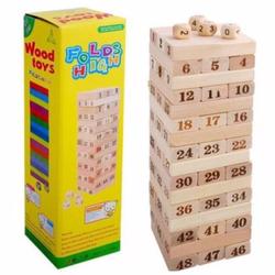 Bộ đồ chơi rút gỗ  48 thanh kèm 4 con súc sắc cho bé loại lớn