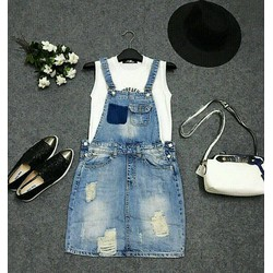 Đầm jean yếm