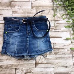 Quần giả váy jeans mềm kèm dây nịt size đại