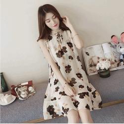 Đầm suông hoa trẻ trung MS166