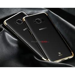 Ốp lưng Galaxy S8 nhựa cứng viền màu Baseus Glitter