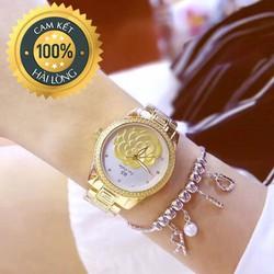 Đồng hồ nữ chính hãng BS mặt hoa nổi rất đẹp và sang trọng