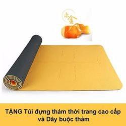 Thảm tập Yoga cao cấp Hatha - Màu vàng tặng túi thời trang