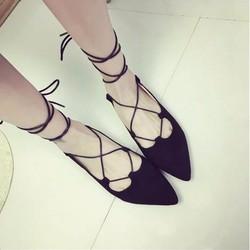 Giày búp bê cột dây mới