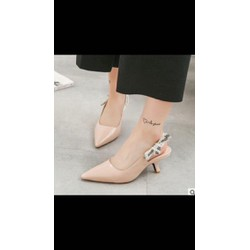 Giày cao gót nơ sau da đẹp