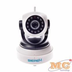 Camera IP WIFI 3G Siepem điều khiển từ xa Trắng