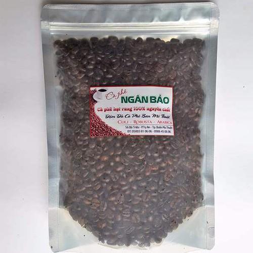Cà phê hạt rang nguyên chất Ngân Bảo 500gr -NPP HS shop