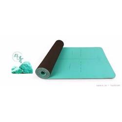 Thảm tập Yoga cao cấp Hatha xanh dương - Tặng túi thời trang