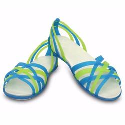 Giày sandal crocs huarache flat màu xanh da trời