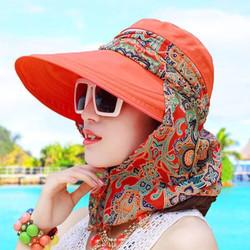 Combo 2 mũ kèm khăn chống tia cực tím hiệu quả