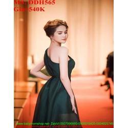 Đầm maxi kiểu lệch vai khoét bụng thời trang và sang trọng DDH565