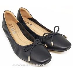 Giày Nữ | Giày Búp Bê nơ da thật VNXK