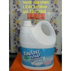 nước rửa chén Lion 3800ml