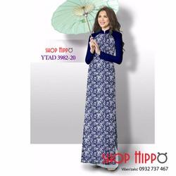Vải áo dài lụa hoa nhí cực xinh