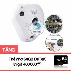 Camera IP VR 360 quay mọi góc nhìn 360 độ tặng Thẻ nhớ 64GB