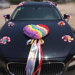 Mẫu 004 hoa giả trang trí xe cưới  - hoa cô dâu