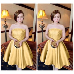 Đầm dự tiệc cúp ngực đính hạt công chúa Bella
