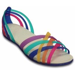 Giày sandal Crocs. huarache flat màu xanh biển