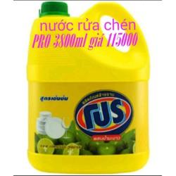 nước rửa chén pro 3800ml