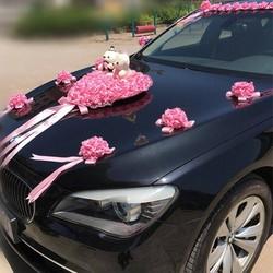 Mẫu 001 hoa giả trang trí xe cưới  - hoa cô dâu