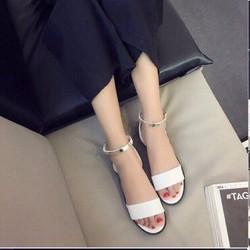 Sandal 1 bản ngang tán vàng