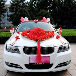 Mẫu 003 hoa giả trang trí xe cưới  - hoa cô dâu