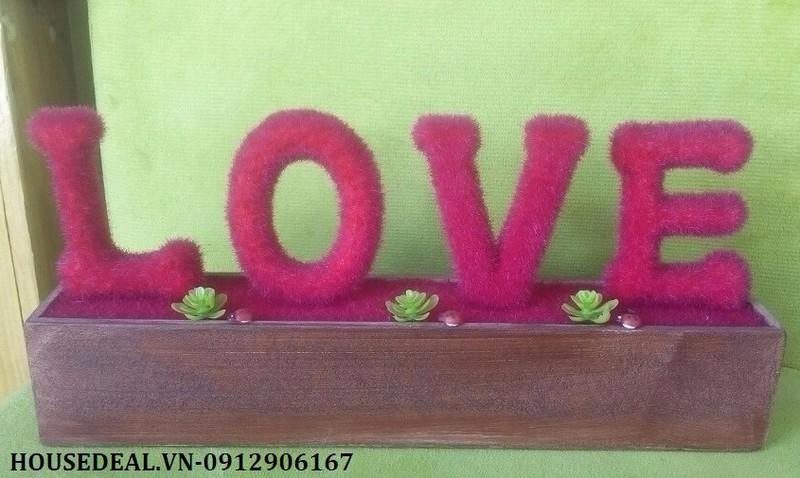 Khay cây love trang trí 2