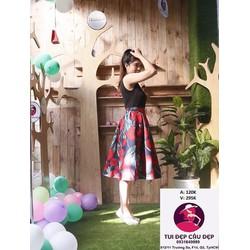 Váy Midi Hoa Thái Xinh