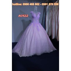 áo cưới màu tím AC422