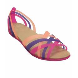 Giày sandal crocs. huarache flat màu hồng