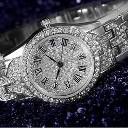 Đồng hồ thời trang nữ đính đá vàng kiêu sa cho phái đẹp-229