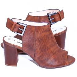 Giày nữ da thật cao gót 9p hở mũi