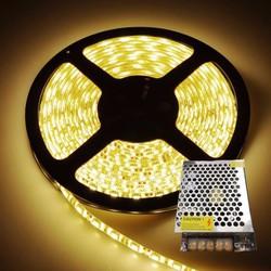 Bộ led dây 5050 12v-5m+nguồn 5A màu trăng or vàng