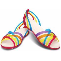 Giày sandal crocs. huarache flat màu đỏ