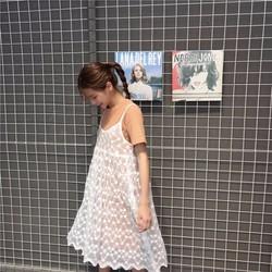 Set váy sheer 2 dây chữ A